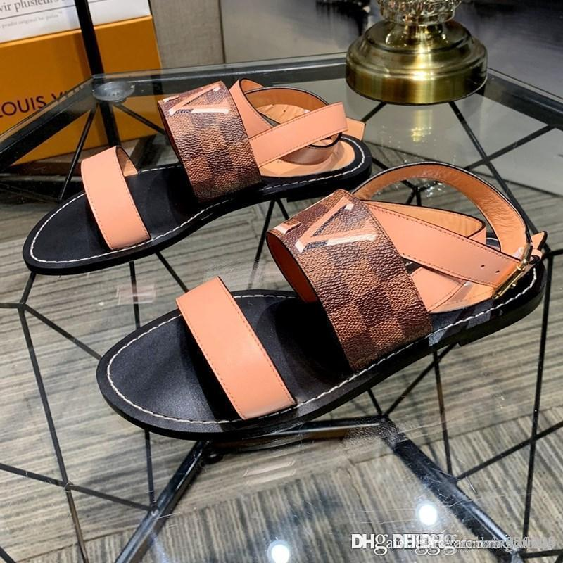 Nuovo formato delle donne PASSEGGERO SANDALO scarpe firmate lusso sandali delle donne 1A5LUO casuale di cuoio superiore di moda 35-42 con la scatola