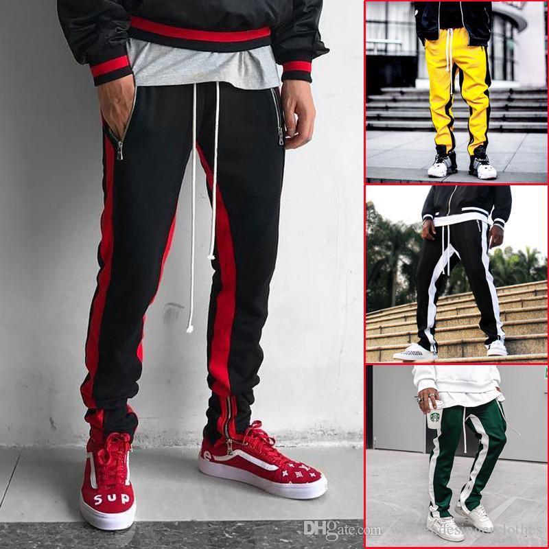 Designer Striped Herren Hosen Mode Herbst Casual Sport Herren Lange Atmungsaktive Hosen Hip Hop Herren Kleidung
