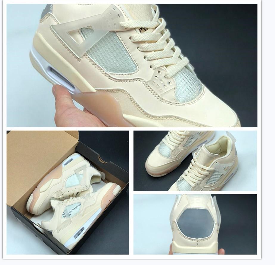 Nike Air Max Retro Jordan Shoes Jumpman 4 4s crème de basket-ball voile NakeskinJordanRetro IV Hommes Femmes Muslin Wmns SPACE JAM sport Chaussures de sport pour hommes Formateurs