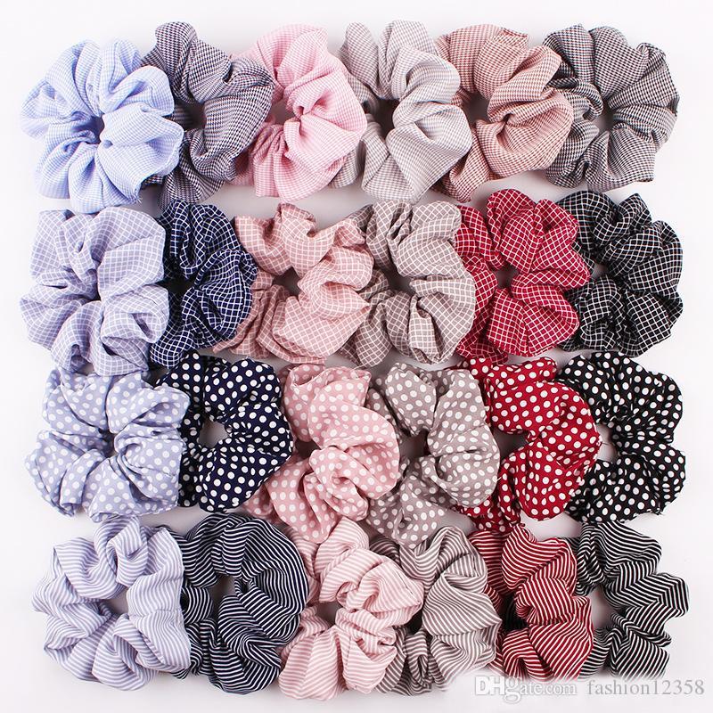 119 Styles Mode-Design-Stirnband-Punkt-Streifen-Blumen Flamingo Haarbänder Mädchen Frau Dickdarm Pferdeschwanz-Halter Trendy Haarschmuck