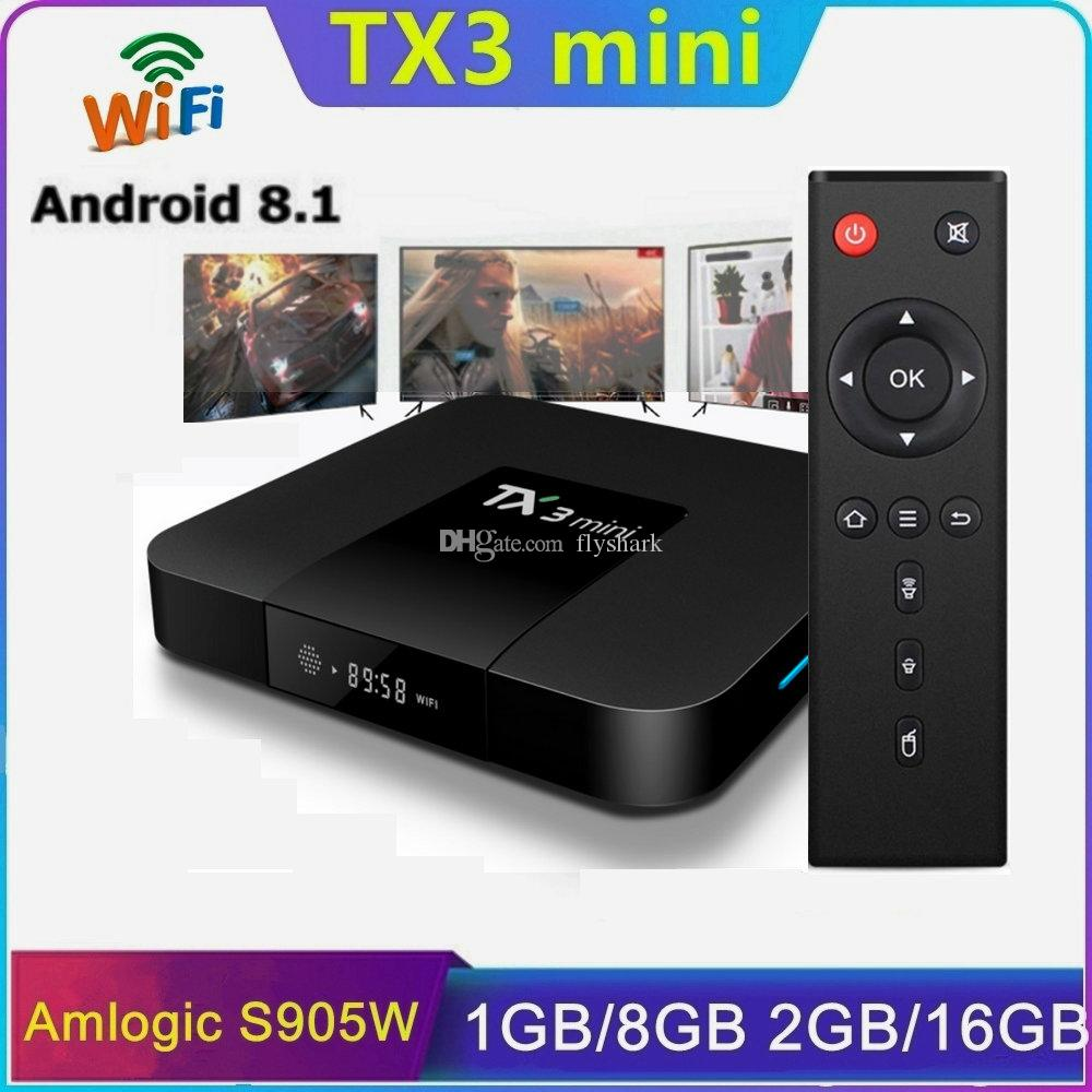 Customize Your Logo Amlogic S905W Android 8.1 TV Box 2GB 16GB Caja de tv android Support 2.4G Wifi TX6 H96 Max