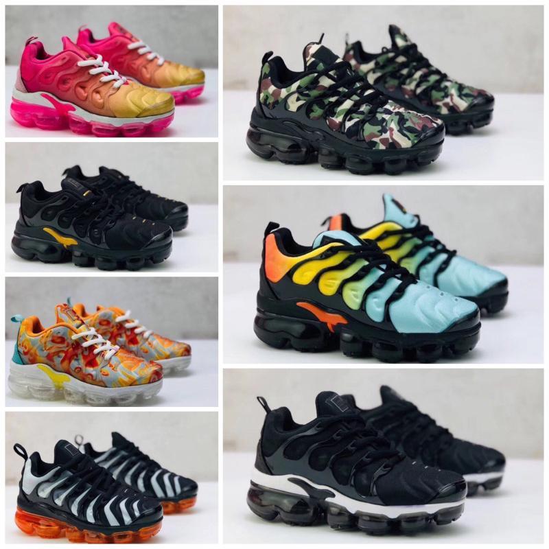 Nike Air TN Plus 2020 Tn Inoltre scarpe da corsa ragazze dei ragazzi delle scarpe da tennis nere triple bianco freddo lupo grigio Chaussures tn Formatori