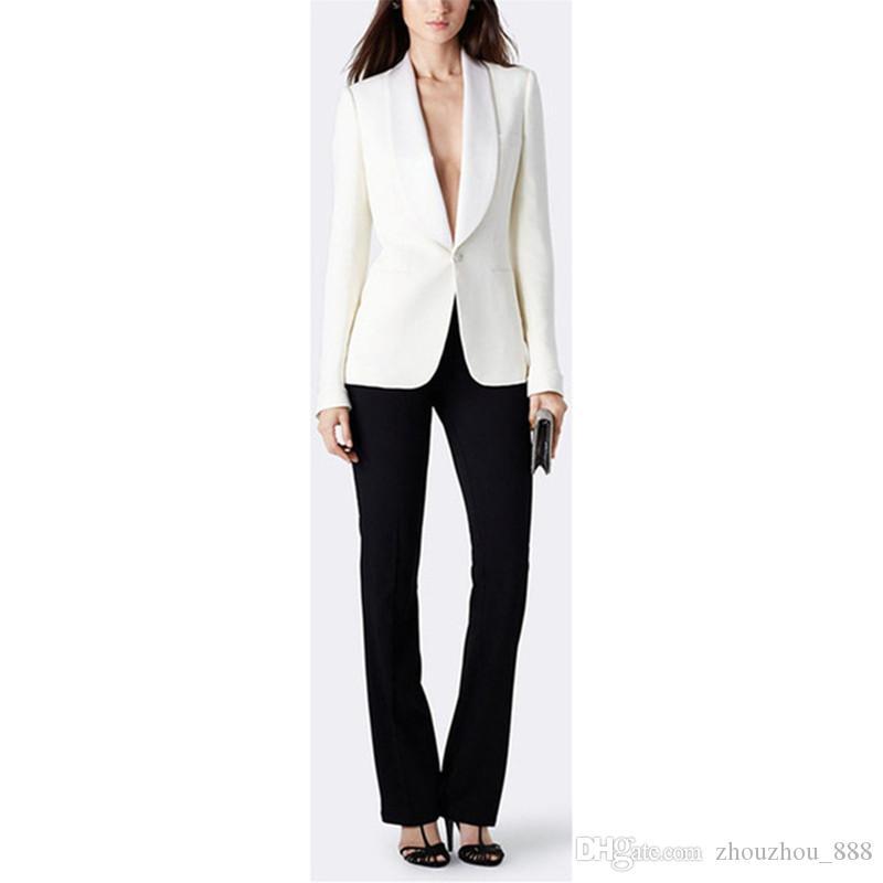 pantalone nero giacca bianca