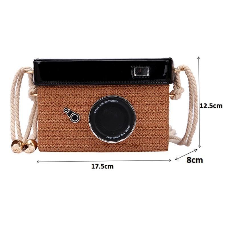 2021 forma di piccole borse per fotocamera da donna Borse a tracolla quadrate estate sacchetto della spiaggia di paglia di estate borse a tracolla borse a tracolla borsa MBCPF