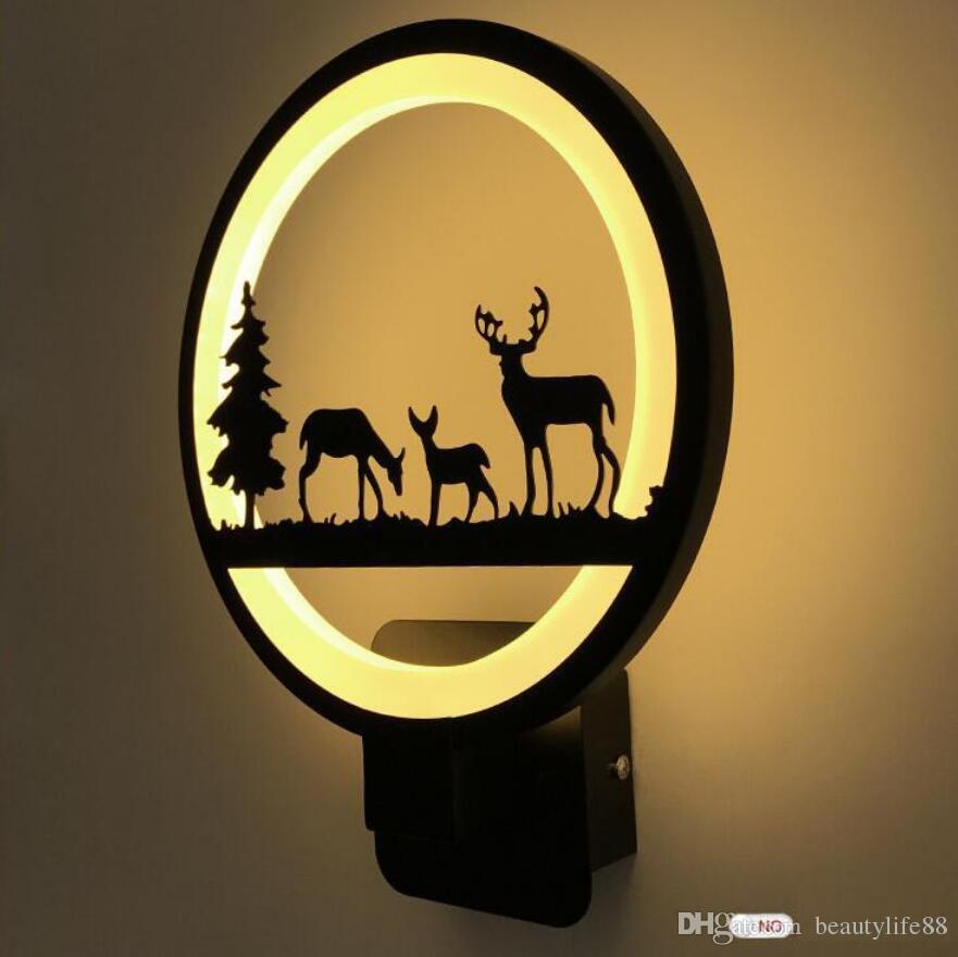 15W Acryl moderne Wandleuchte einfache kreative Persönlichkeit LED Flur Wandleuchte Runde neue Kinder Nachttischlampe