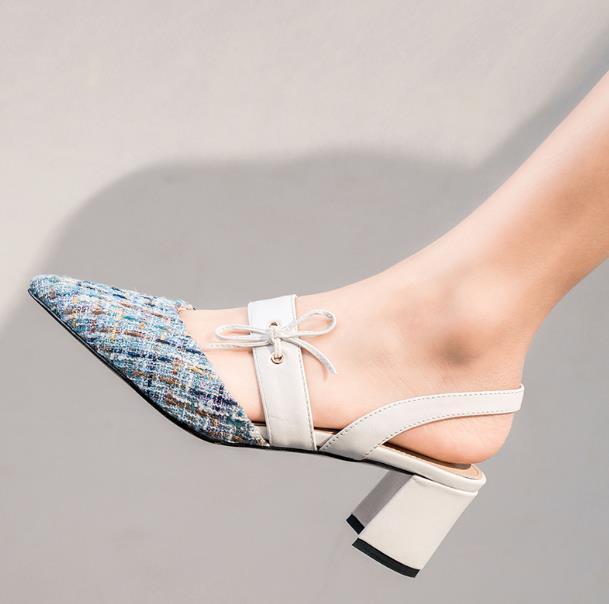 chaussures de printemps et à l'arrière sauvage d'automne avec de hauts chaussures pour femmes talon de chaussures unique des femmes jupes Baotou