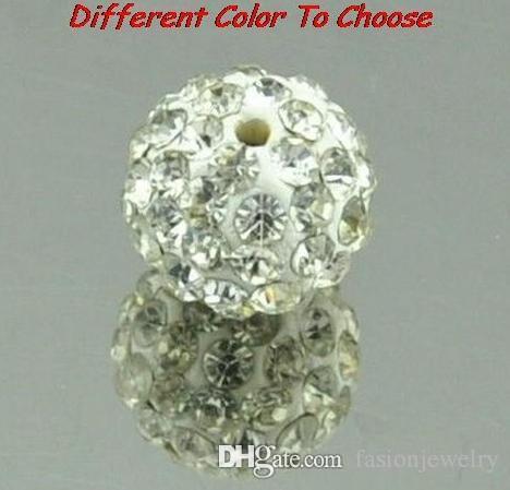 150 pz / lotto 10mm colore misto bianco Micro Pavimenta CZ Disco Di Cristallo di cristallo Bead Braccialetto Collana Perline. Perline Calde! Strass DIY distanziatore
