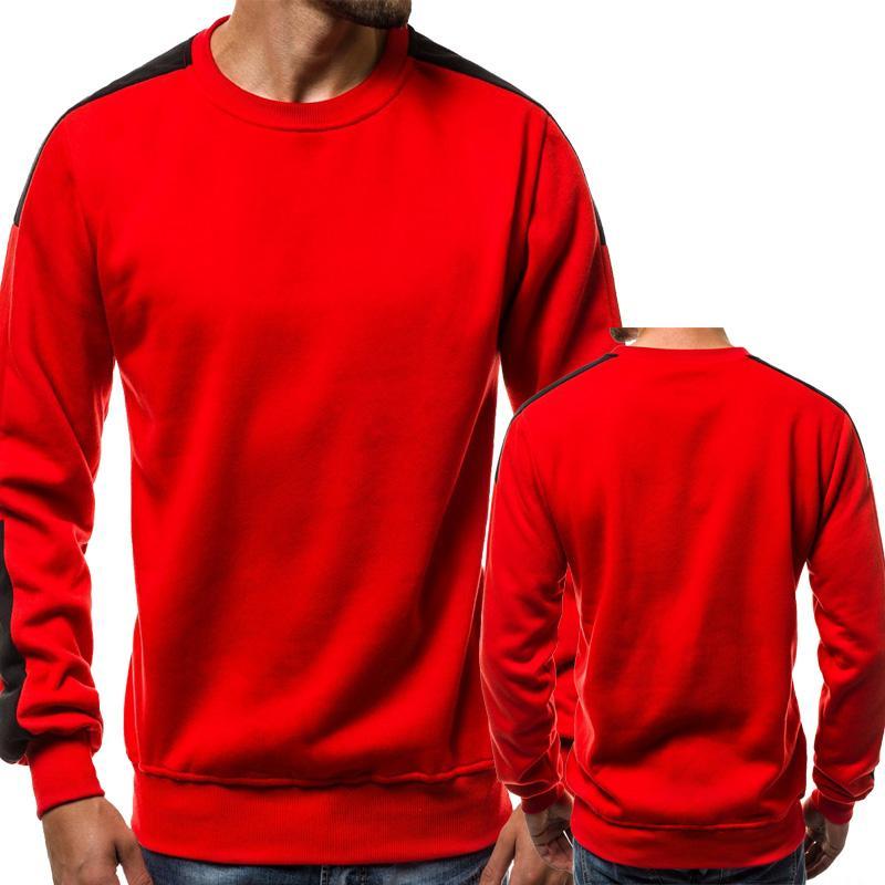New 2020 Spring Autumn Pullover Men Long Sleeve Cotton Splice Comfortable Crew neck Men Pullover Tops Clothing