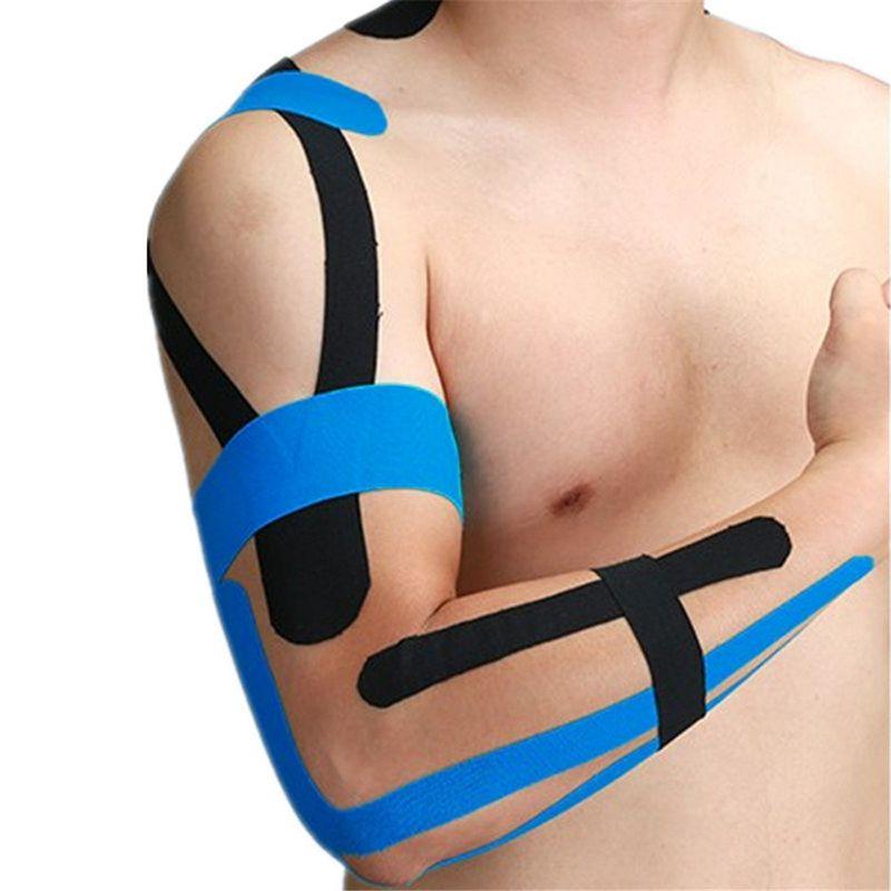 Stretch Runde Band 5 cm * 5 cm Sport Muskelband Wundverband Pflege Motorik Erste-Hilfe-Band Muskelschäden Unterstützung