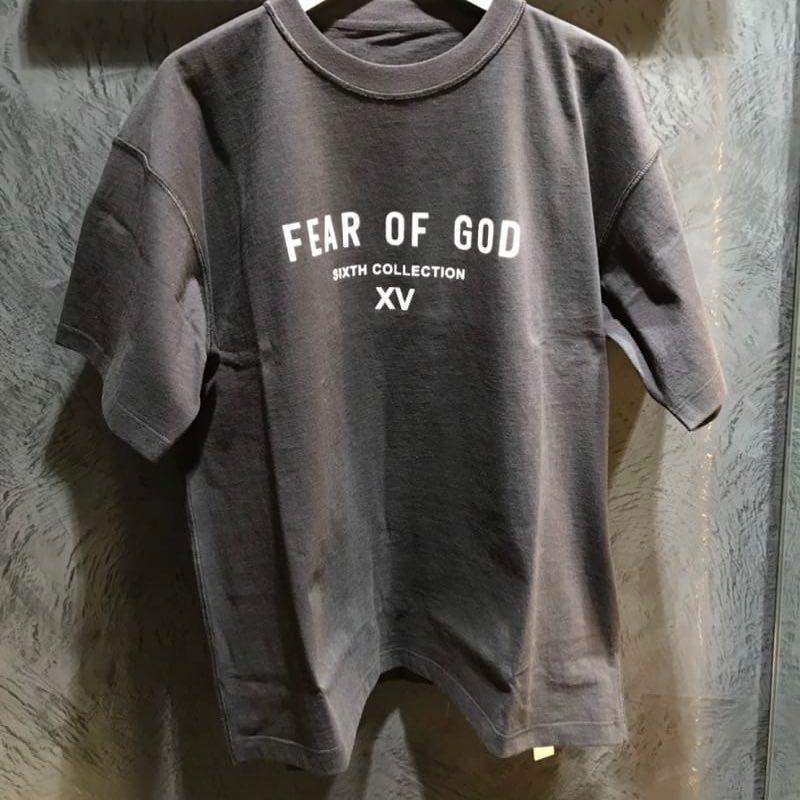 camiseta de la calle principal diseñador de moda 2020 TEMOR DE DIOS para hombre y para mujer de Japón limitado de manga corta camiseta