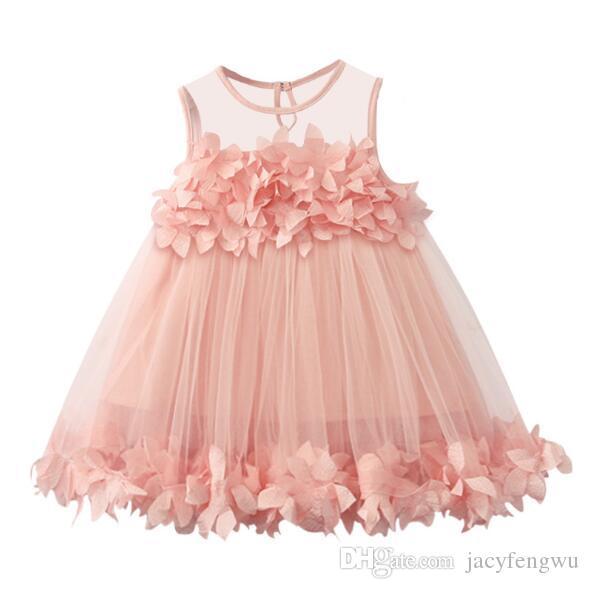 Vestiti della ragazza di fiore Vestiti del progettista della neonata Vestiti da principessa dei capretti Vestiti Vestiti Pannello esterno della ragazza del costume della ragazza Vestiti XZT076 dei bambini