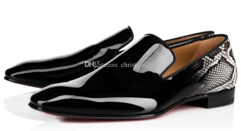 Luxurious Designer Party Wedding Dress Dandelion Oxfords Flat Mens Business Slip On Red Bottom Man Loafer Luxury Designer Shoes Size 35-46