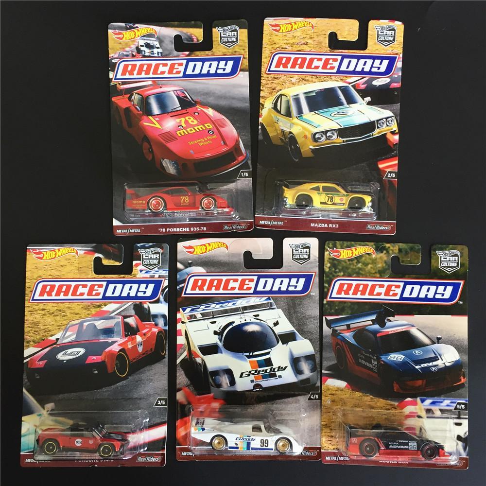 Hot Wheels coches de carreras de coches Cultura 1:64 Día edición de coleccionista de metal fundido a troquel modelo Kids Collection juguetes Vehículo Y200109 regalo