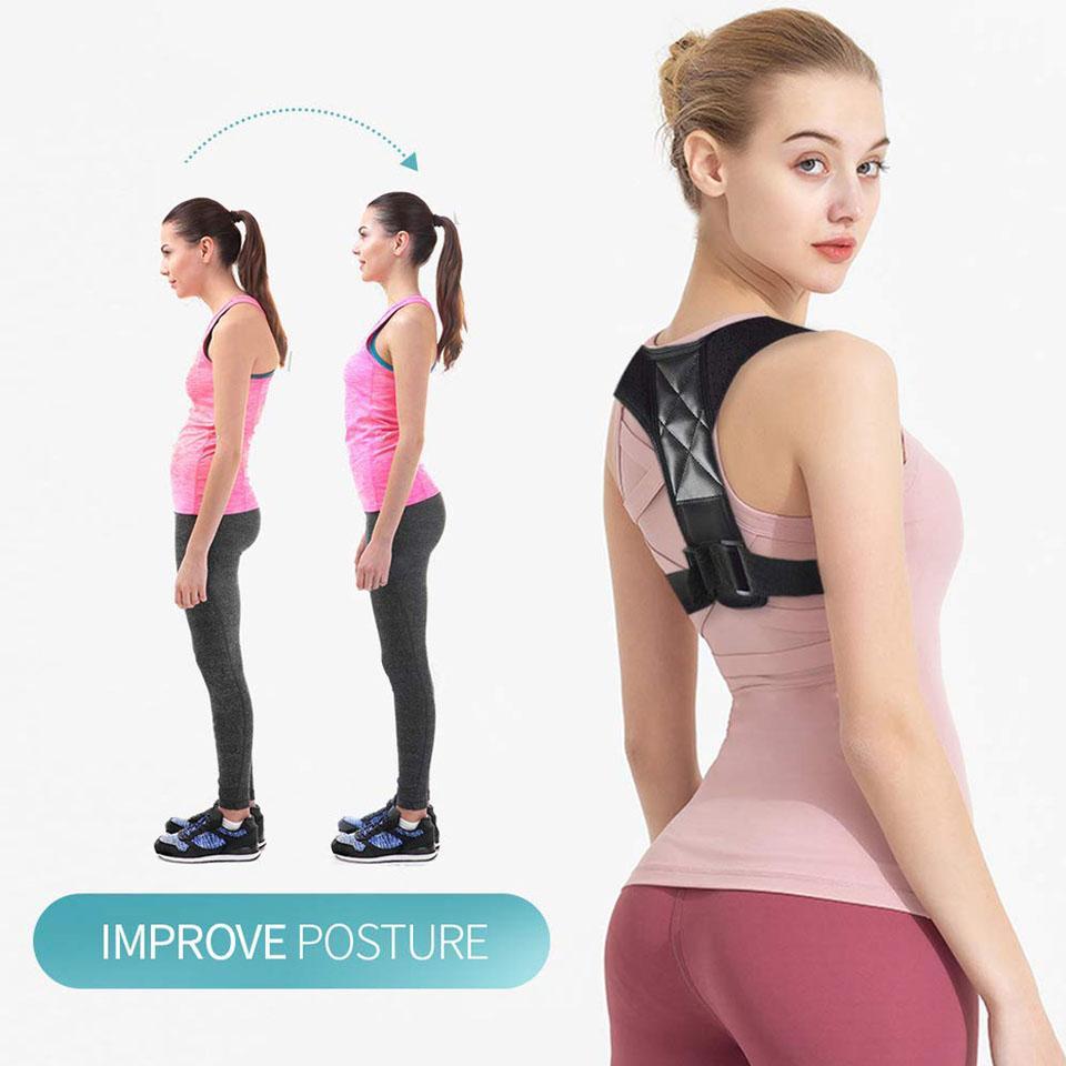 طبي قابل للتعديل الترقوة الموقف الأقواس الرجال والنساء العلوي الدعم الخلفي تصحيح دعم الخصر الكتف على الكتف حزام الخصر الموقف