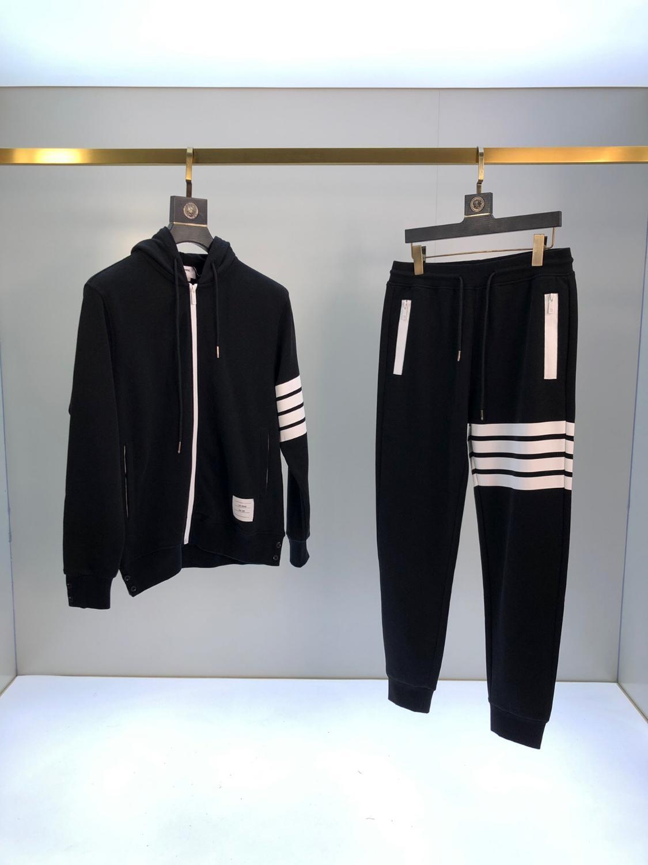 Erkekler Eşofman Özgün Tasarım Ve Zarif Nakış Kazak Ve Spor Fr88260FH Dış Mekan Pantolon