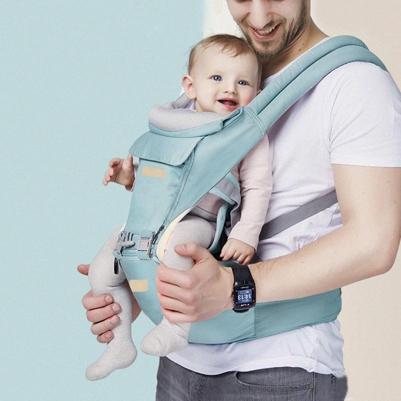 Portador de bebé de múltiples funciones del portador de bebé del asiento de la cadera de 0-36 meses para llevar ajustable para compras senderismo Viajar BM88 HMGF #