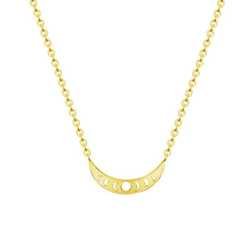 Crescent Moon Moon Colliers pour les femmes Minimaliste Bijoux en or couleur Charm Colliers Pendentifs Collier Femme de demoiselle d'honneur cadeau