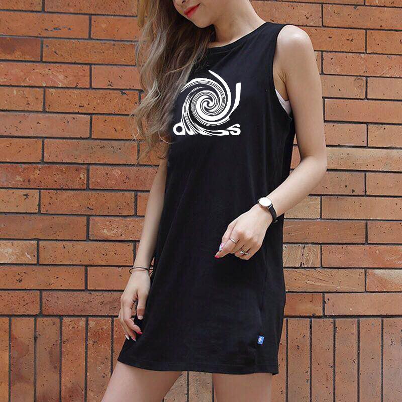 Femmes Sport Marque Robes réservoir 2020 Mode Sport Marque Lettres Casual Imprimer Débardeurs Robe femme camisoles M-2XL