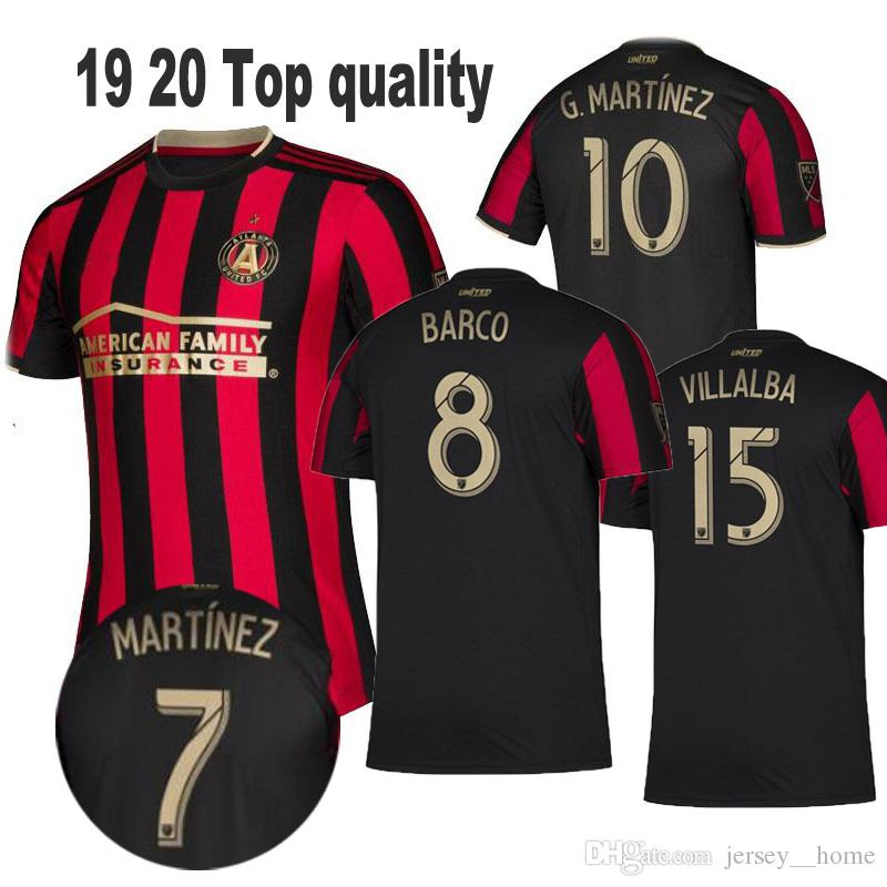 Qualidade tailandesa 2019 Atlanta United camisa de futebol vermelho 19/20 GARZA JONES VILLALBA MCCANN MARTINEZ ALMIRON longe camisas de futebol branco