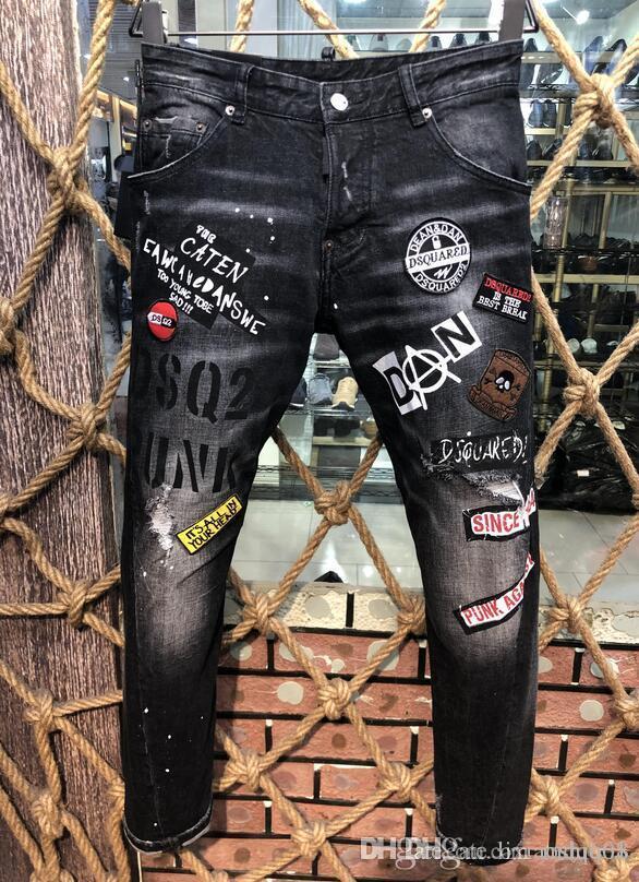 Été 2019 jeans pour hommes en gros, production européenne de denim de vêtements pour hommes de bonne qualité bienvenus à la taille 28-38: 44-54 035