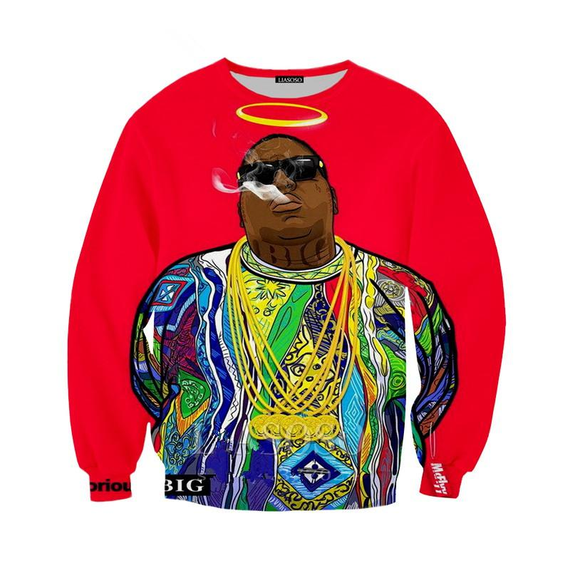 새로운 운동복 후드 티 남성용 여성용 3D 프린트 랩퍼 Notorious B.I.G. 비기 스몰 투팍 2pac 3D Streetwear 슬리브 트랙 수트 풀 오버 B111