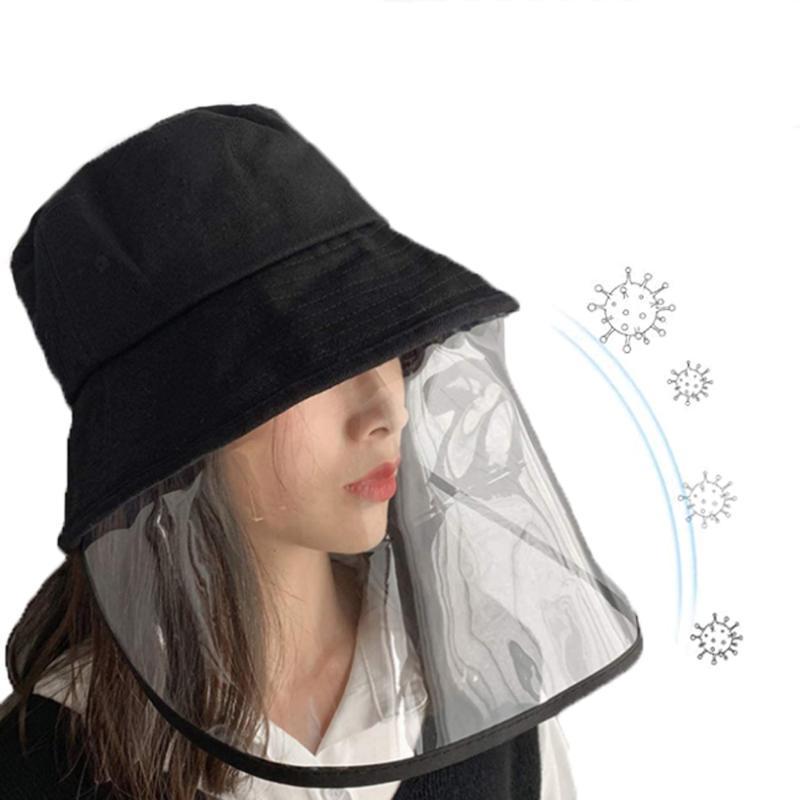 2020 New Fisherman's Hat Clear Bucket Hat защитный многофункциональный пылезащитный анти-слюна защитный колпачок для взрослых высокое качество