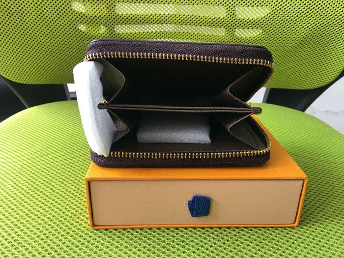 Designer di lusso Brand Women Portafoglio singolo Zipper da uomo Portafoglio da uomo Classico Brand Borsa con scatola regalo