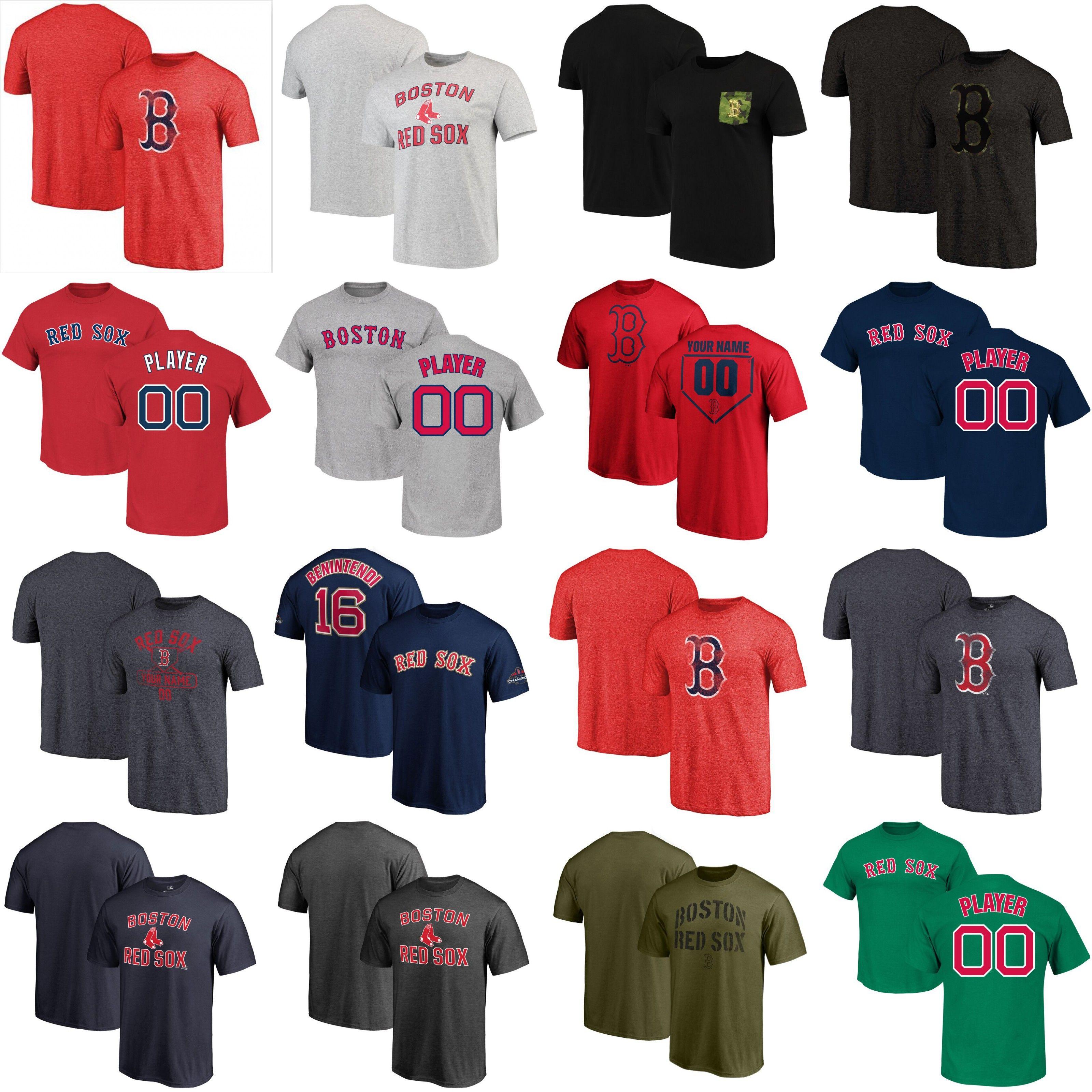 J.D. Martinez Rafael Devers baseball Red Sox T-shirt Benintendi Bradley Jr. BETTS sale Mookie Bett Boston custom any Name & Number T-Shirt