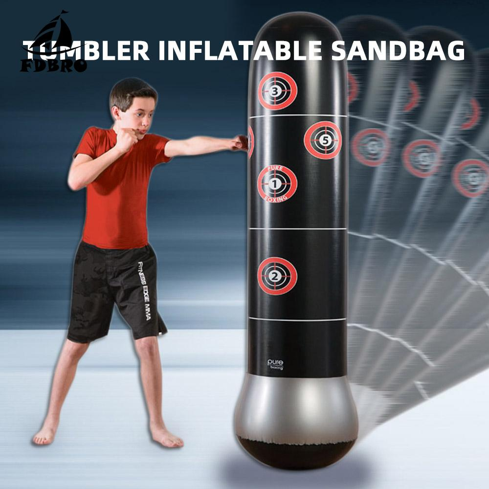 Inflatable UnFilled Punching Bag Tumbler Boxing Fitness Sandbag MMA Martial Arts