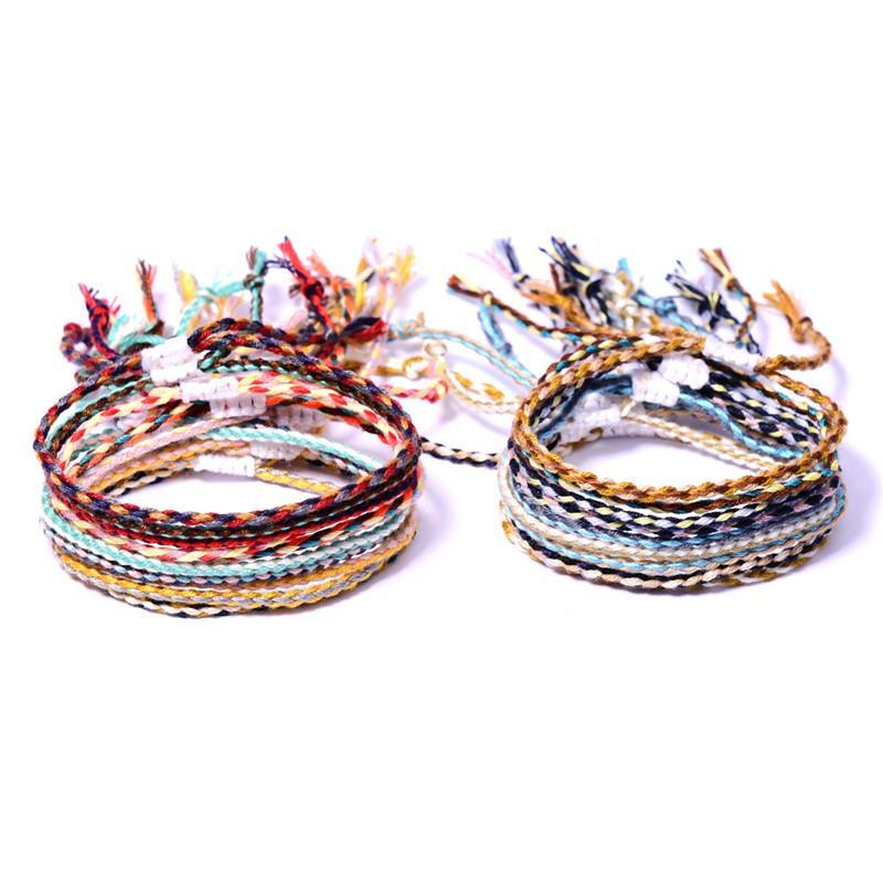 Corda regolabile Braid String Praied Bracciale Boho gioielli rosso cavo del braccialetto di amicizia Donna Bambino Good Luck Fortune