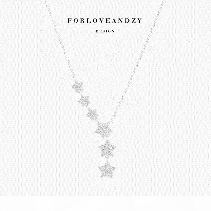 meistverkauften Silber überzogener Frauen-Herz-Halsketten-Silber Stern-Anhänger Schmuck Gewohnheit Großhandel