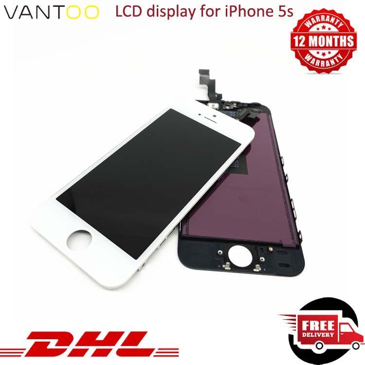 OEM 원래 아이폰 5S 화면 교체 스크린 디지타이저 흰색과 검은 색 무료 배송 LCD 디스플레이