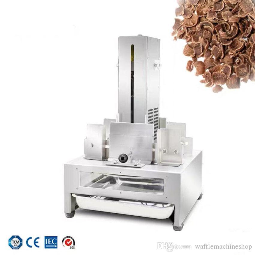 Ticari Tam Otomatik Paslanmaz Çelik Çikolata Kesme Makinesi Yüksek Kalite Elektrikli Çikolata Kesme Aracı Çikolata Tıraş Makinesi