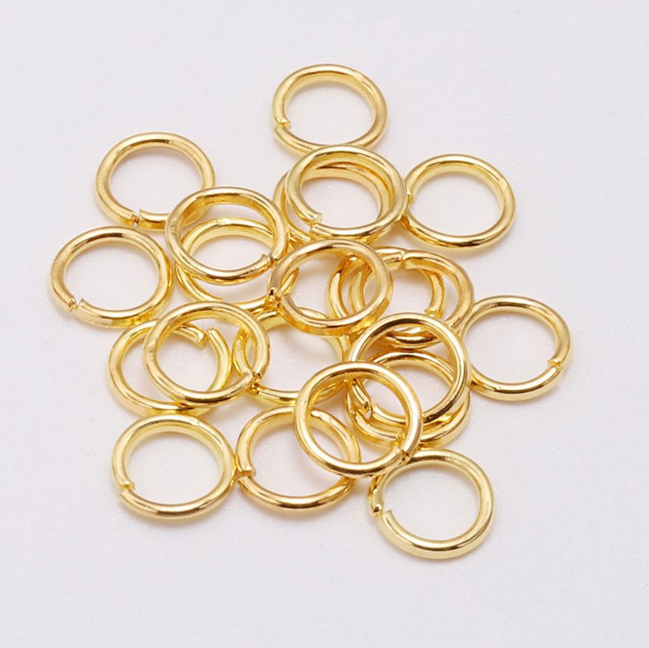 Jewelry DIY Making Craft Findings Stainless Steel Opening Jump Rings Gold//Silver