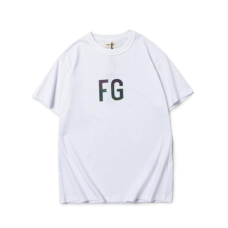 20SS Fear Of Imprimir Mens Mulheres Designer T shirt dos homens do desenhador de moda ESSENTIALS BRANCO camisetas Tops Tee Deus manga curta T-shirt F07
