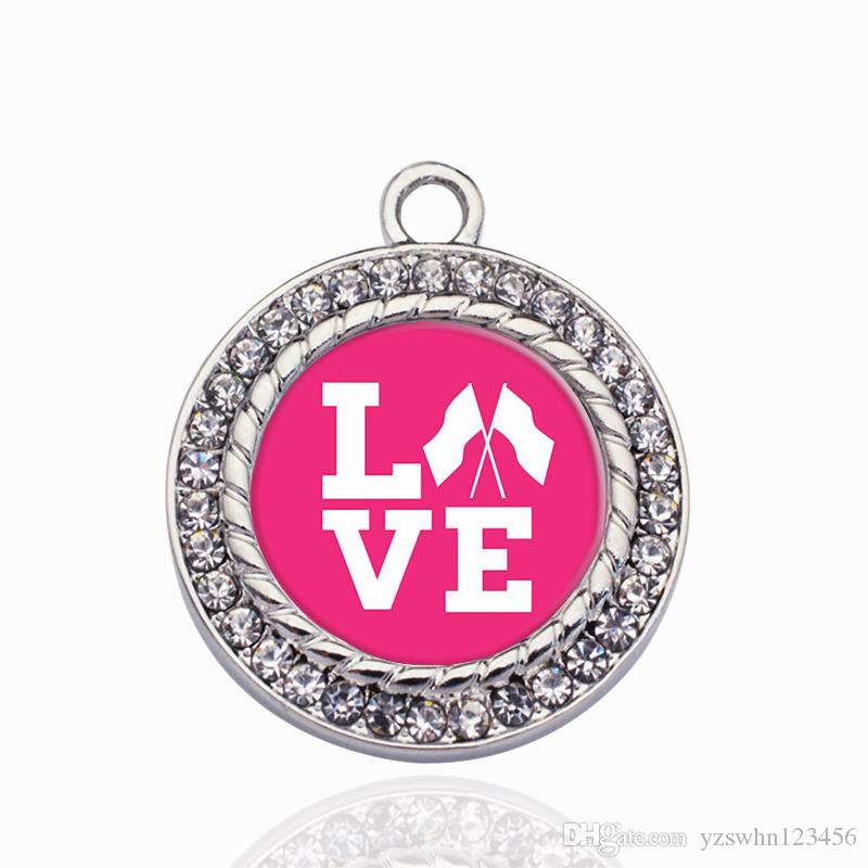 Guardia de color Círculo de amor Encanto Charm oro / astilla colgantes para el collar / pulsera Hacer joyas resultados de bricolaje artesanal hechos a mano regalos