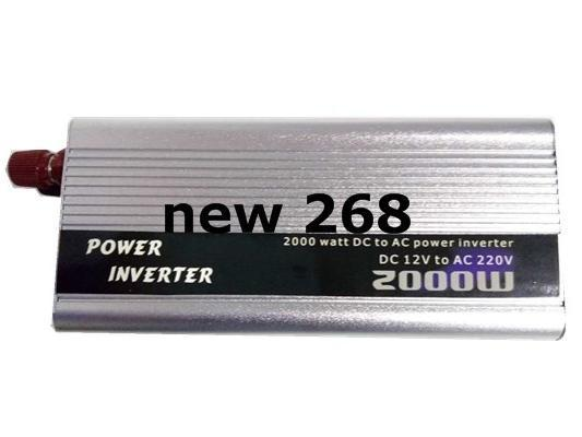 Freeshipping 2000w watt dc 12v to ac 220v portable car power inverter adapter charger converter