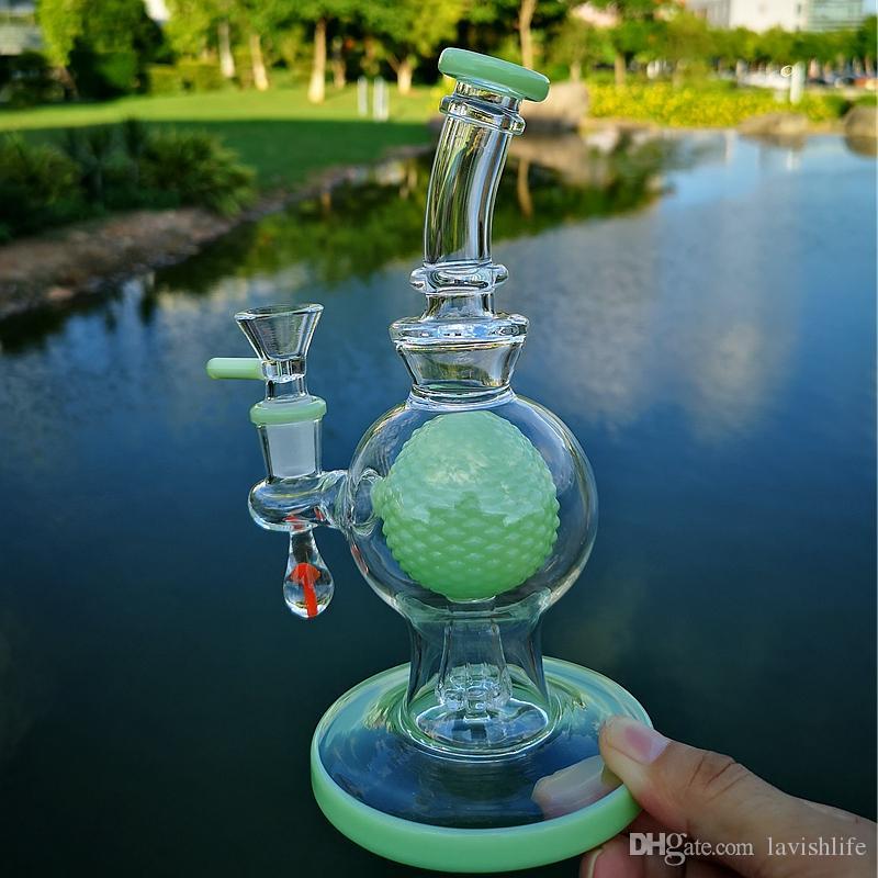 Пьянящий Стекло Бонги Мини бонг с Pipes Showerhead Проц Мода Дизайн Dab нефтяных вышек Болл вода с Glass Bowl XL-1971