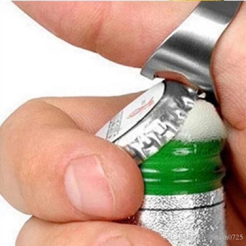 Bunte neue portable Edelstahl-Bier-Stab-Werkzeug-Finger-Ring Flaschenöffner bottel Bevorzugungen epacket frei