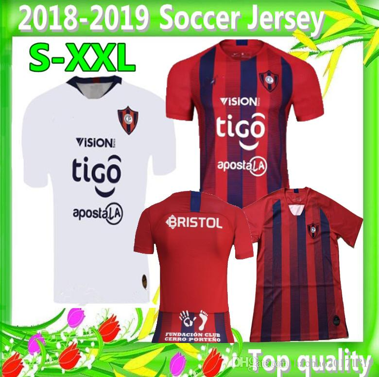 Acquista Taglia S XXL 2019 CERRO PORTEnO Maglie Da Calcio 1819 Paraguay Thai Qualità Casa Rosso Via Bianco Maglie Da Calcio A $16.22 Dal