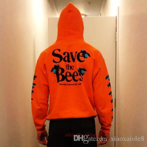 Men Save The Bees Creator Flower Boy Hoodie Sweatshirt Hooded Pullover Hot
