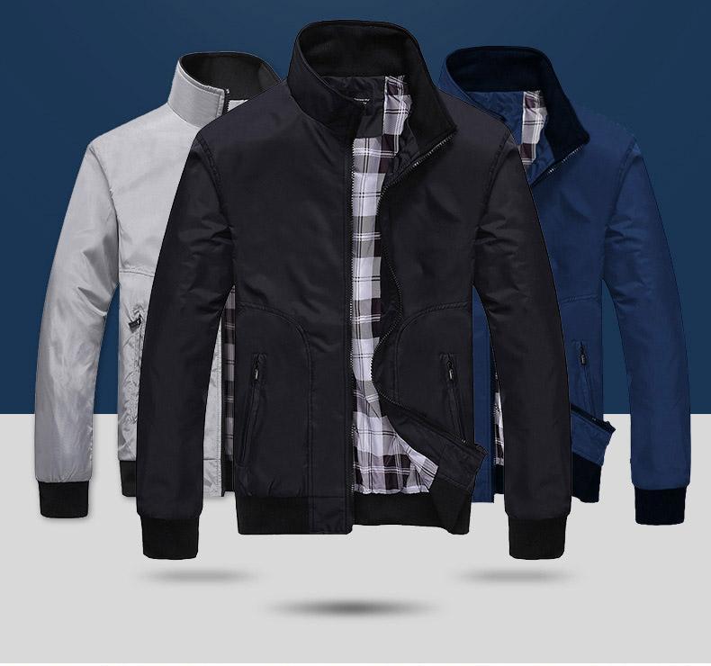 Ucuz Tasarımcı Erkek Ceket Sprint Sonbahar Yeni Coats Casual İnce İnce Açık yelekleri Moda Dış Giyim Stand-yaka Artı boyutu M-XXXXL Toptan