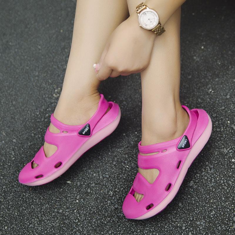 Di modo nuovo stile di estate camuffamento coppie casuali Closed-toe sandali Beach Trend singolo-cinghia Slipper