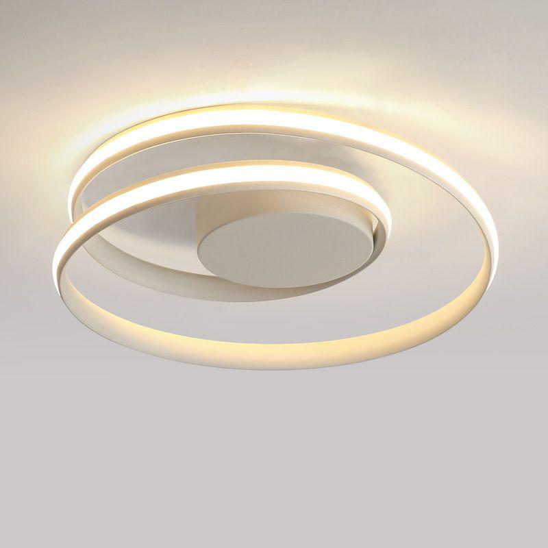 Plafoniere moderne a LED minimaliste lampada da soffitto in alluminio bianco / nero soggiorno camera da letto lamparas de techo colgante moderno