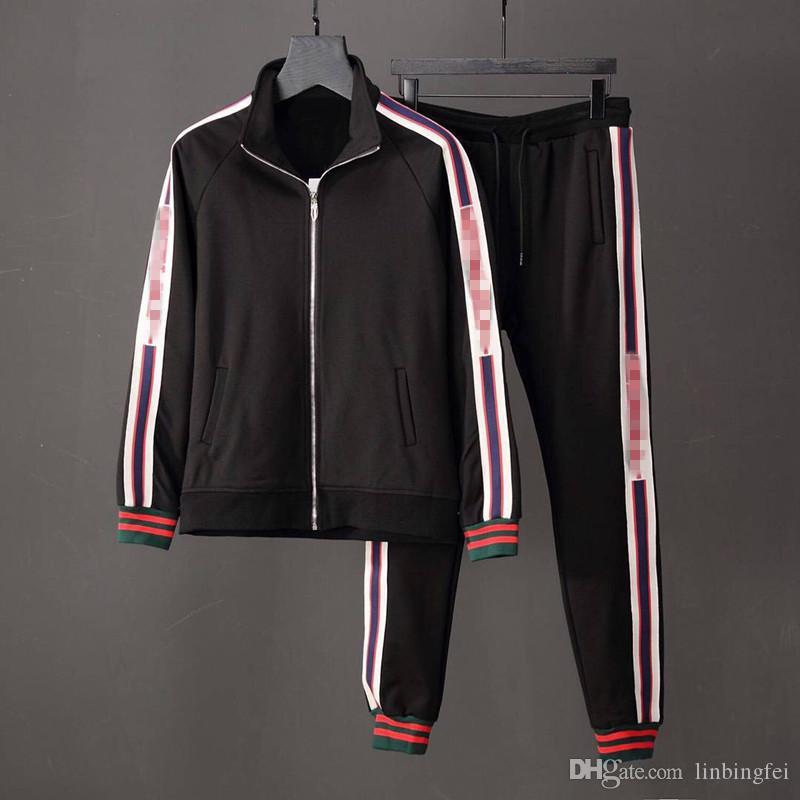 Giacche da tuta da uomo di lusso Set Fashion Running Tute Medusa Men Sport Suit Lettera stampa Felpe Abbigliamento sportivo