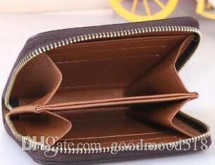 Chaud Mode Designer Embrayage Célèbre Hommes Sac Femme Sac 11x8cm Boîte De Boîte Boîte Avec Dust Dust Brand Embrayage Court 60067 Porte-monnaie Porte-monnaie Coin SFHC