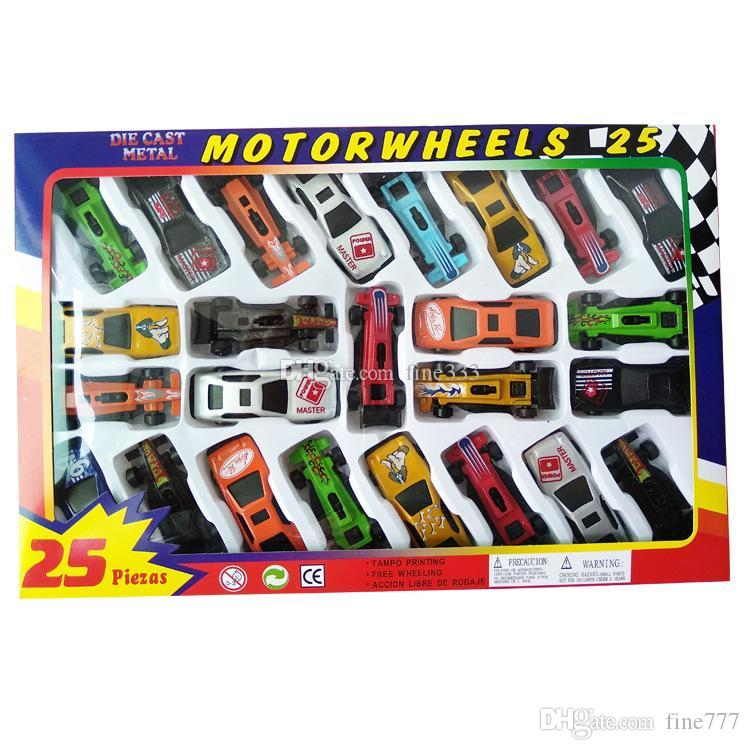 Hot Cars Model Toys Metal Shell Simulation Model Racing Children's Toy Gift Collection 25pcs/box Packaging Free Ship Via DHL