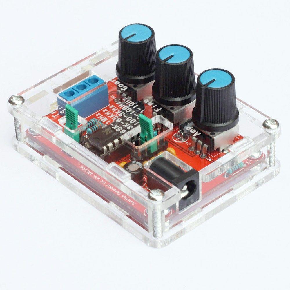 Função Precision Signal Generator DIY Kit Sine / Triângulo / Output Praça 1 Hz-1 MHz Gerador de Sinal de Freqüência Ajustável Amplitude XR2206