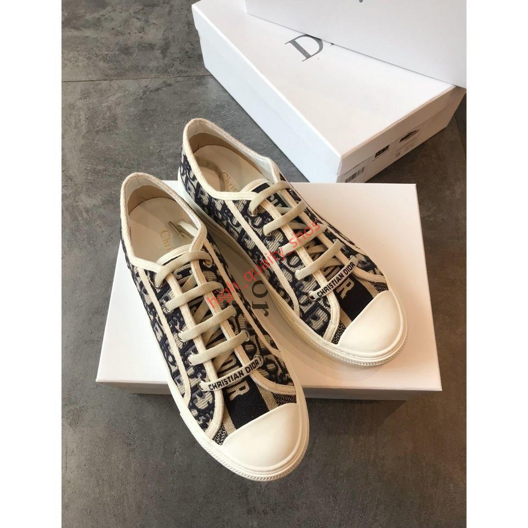 Dior Shoes 2020 новая женщина весна и осень обувь квартиры повседневная холст мода кроссовки вышивка обувь Мода hococal