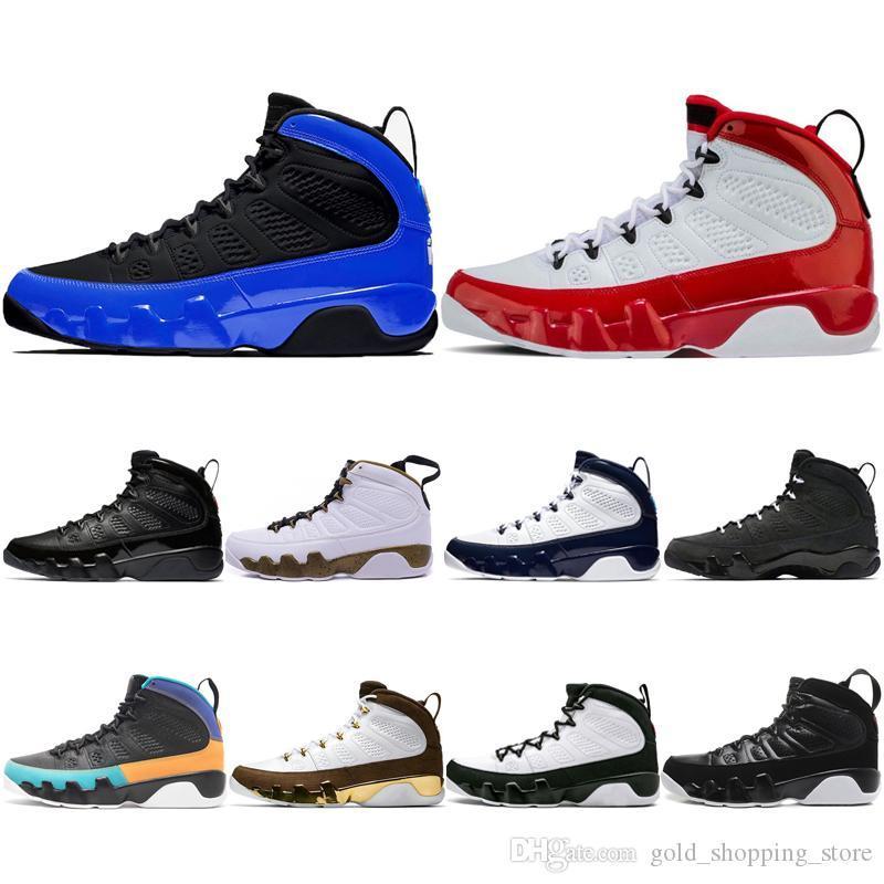 Recenti 9 9s di pallacanestro degli uomini Scarpe blu Palestra Red Bred lo spirito antracite Mop Melo OG mens Space Jam scarpe sportive all'aperto